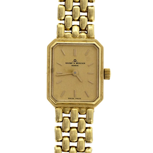 Baume & Mercier Ladies Yellow Gold 5 Row Panther Quartz Wristwatch