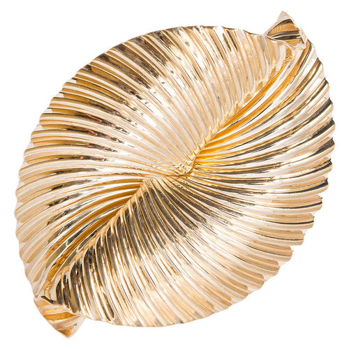 Tiffany & Co. Swirl Ribbon 14k Yellow Gold Brooch