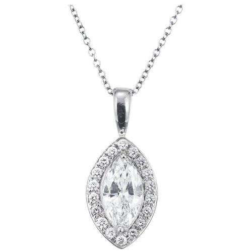 Peter Suchy EGL Certified .70 Carat Marquise Diamond Platinum Pendant Necklace