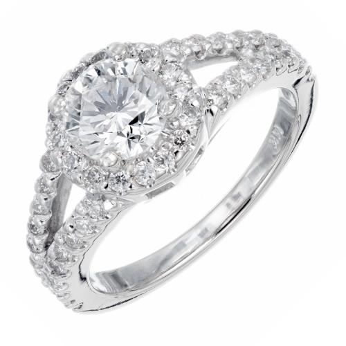 EGL Certified 1.02 Carat Diamond Platinum Engagement Ring