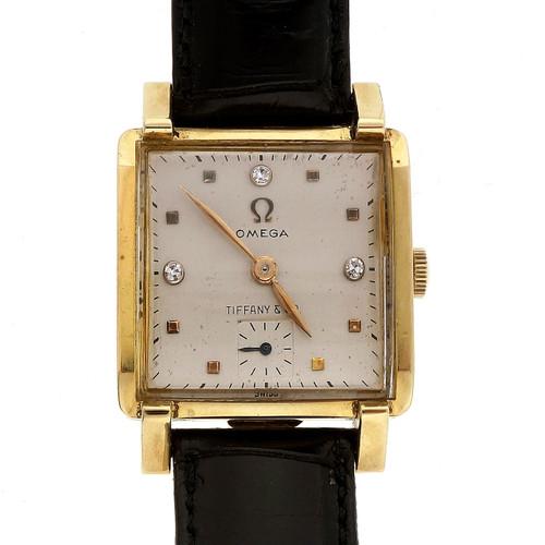 Tiffany 1950 Mid Century Omega 18k Watch Men's Ladies