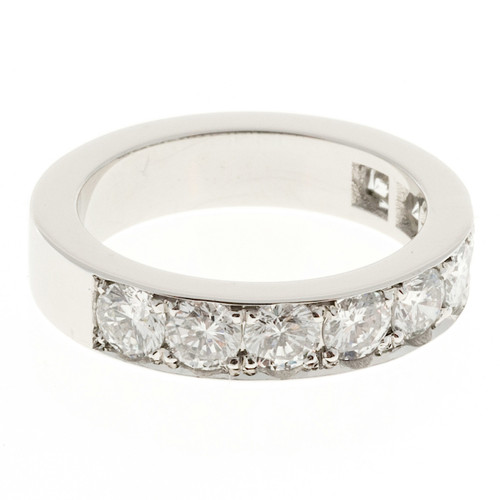 Peter Suchy 1.65ct Bead Set Solid Platinum Wedding Band Ring