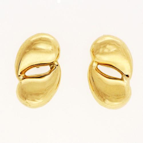 Vintage Tiffany & Co Double Tear Drop 18k Yellow Gold Earrings