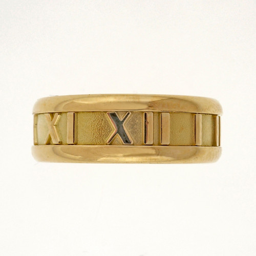 Estate Tiffany & Co Atlas 7mm Wide 18k Yellow Gold Wedding Band Ring