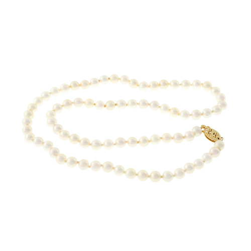 Japanese Akoya Cultured Pearl Necklace 4.5mm To 5mm
