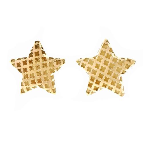 Estate Star Clip Post Earrings Italian Pierce Design