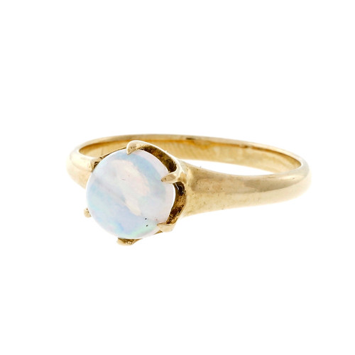 Victorian 14k Pink Gold Opal Ring