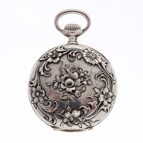 Tiffany 1900 Rare Pocket Watch Art Nouveau Silver Pendant