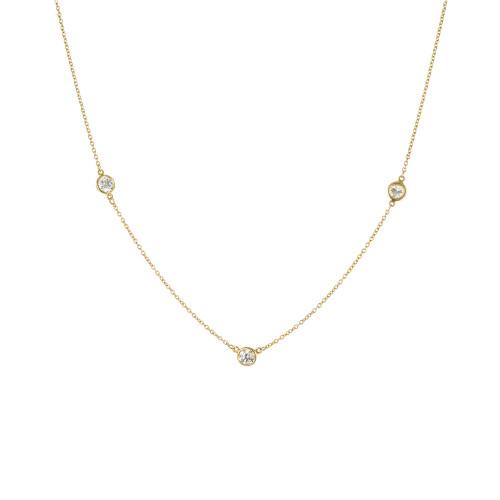 Tiffany & Co. Elsa Peretti .69 Carat Diamond by The Yard Yellow Gold Necklace