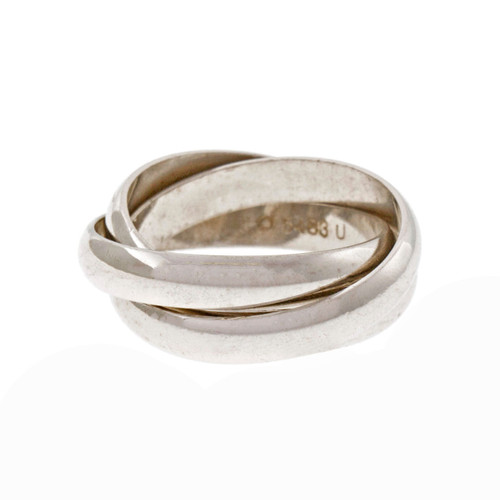 Cartier Trinity Rolling Band Ring 18k White Gold