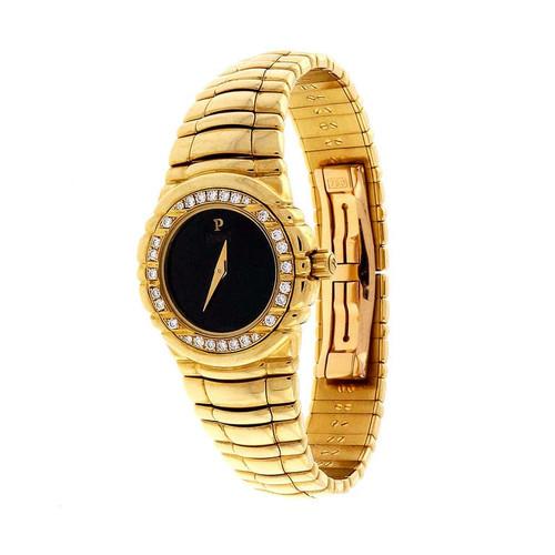 Piaget Ladies Yellow Gold Diamond Bezel Quartz Wristwatch