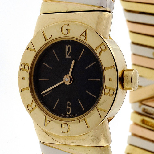 Estate Bvlgari Tubogas 18k Tri Color Watch