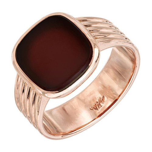 Victorian Carnelian Rose Gold Men's Ring