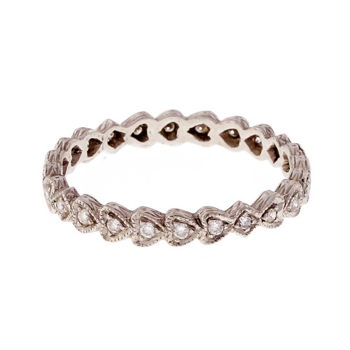 Estate Diamond Eternity Diamond Band Ring Heart Design Top