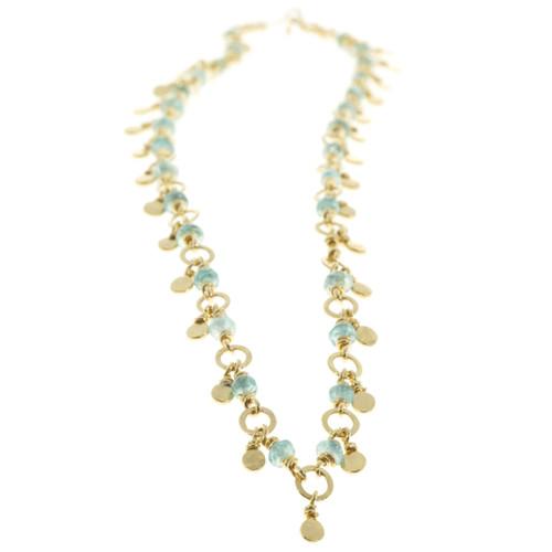 Estate Emerald 18k Gold Necklace Rondelle Beads