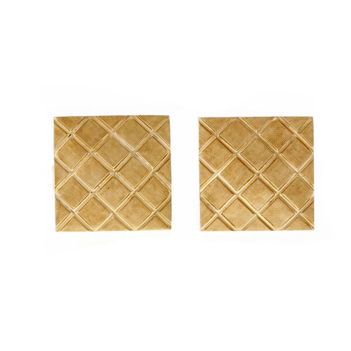 "Vintage 1960 Square Cufflinks ""X"" Design"