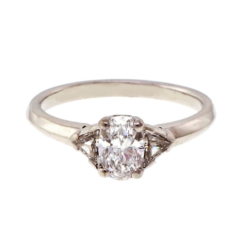 b523599fb Tiffany & Co GIA Oval Diamond 1990 Platinum Engagement Ring. OUR PRICE: