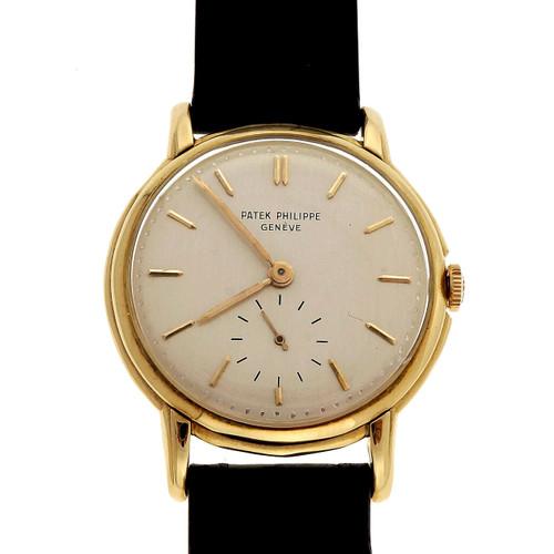 Men's Patek Philippe 18k Reference 2484 Calatrava Wrist Watch