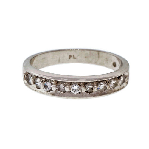Estate Platinum Diamond Wedding Band Ring