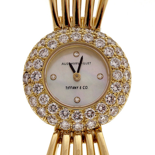 Estate Tiffany & Co 18k 2.00ct Diamond Audemars Piguet Ladies Wrist Watch