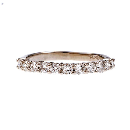 Peter Suchy Common Prong 11 Diamond Band Ring Platinum