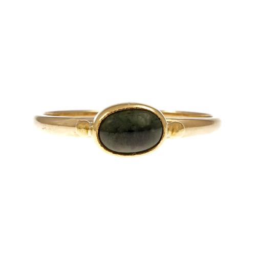 Artist Style Handmade Green Tourmaline Ring 18k & 22k Gold