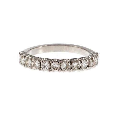 Estate Half Way Around Diamond Wedding Band Ring B