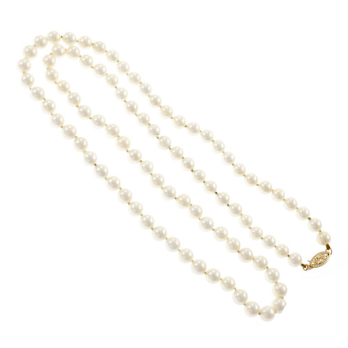 Japanese Akoya Cultured Pearl Necklace 24 Inches 6 – 6.5mm