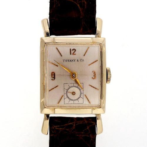 Art Deco Vintage 1945 Girard - Perregaux Men's Ladies Watch Tiffany 14k