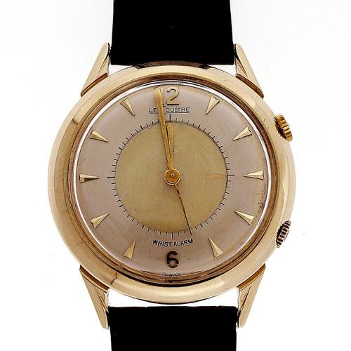 Memovox LeCoultre Rare 14k Gold Wrist Alarm Watch