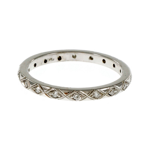 Peter Suchy Antique Inspired Diamond Eternity Band Ring Platinum