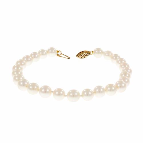Estate 6.5 To 7mm Akoya Cultured Pearl Bracelet