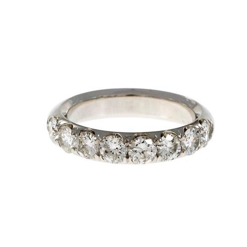 Peter Suchy Groove Set Diamond Wedding Band Ring Platinum