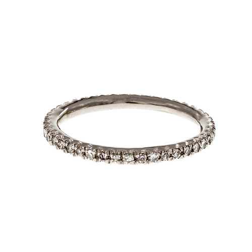 Diamond Eternity Band Ring Platinum