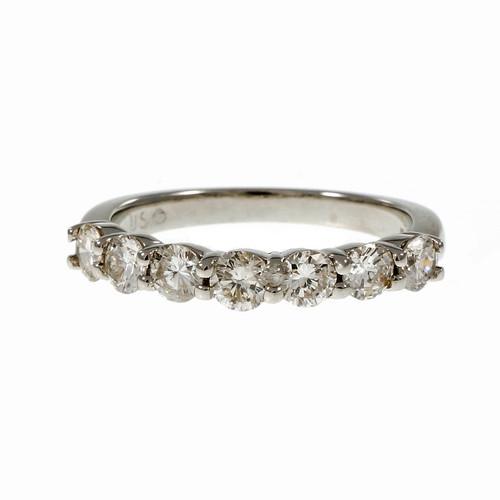 Peter Suchy Common Prong Diamond Platinum Wedding Band Ring