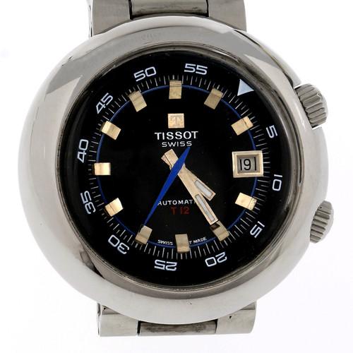 Men's Steel Tissot T12 44594 Automatic Wristwatch Divers