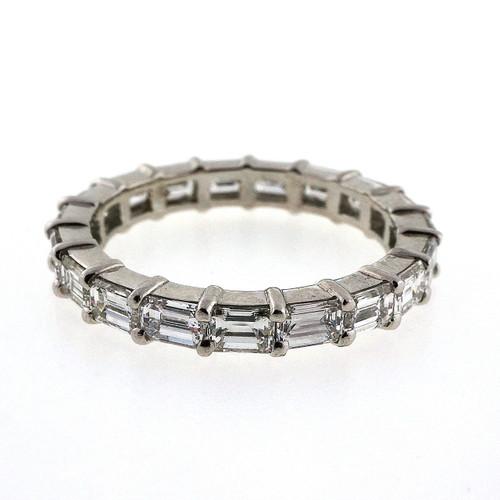 Art Deco Emerald Cut Diamonds In A PSD Platinum Ring 2.25cts
