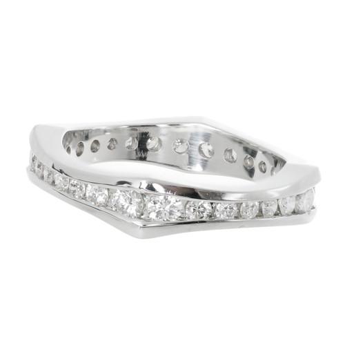 Peter Suchy Diamond Eternity Band Ring Platinum