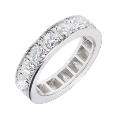 Peter Suchy Diamond Bead Set Wedding Band Ring Art Deco Inspired Platinum