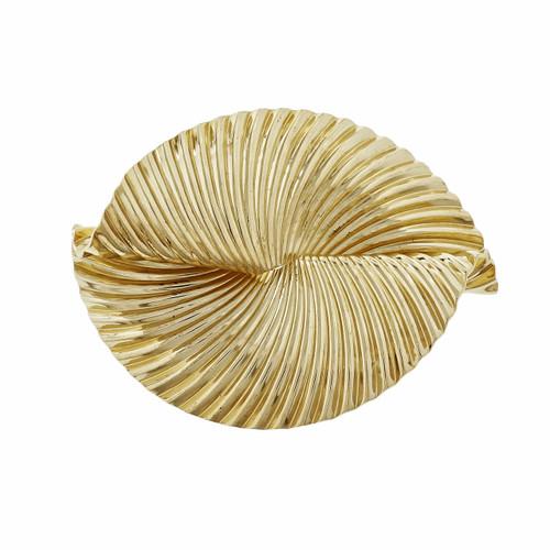 Victorian 1940 Swirl Ribbon Pin 1940 14k Yellow Gold