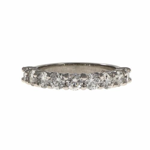 Peter Suchy Common Prong Diamond Wedding Band Ring Platinum
