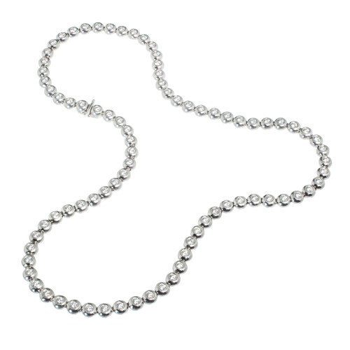 Tiffany & Co. Diamond Platinum Bezel Set Tennis Necklace