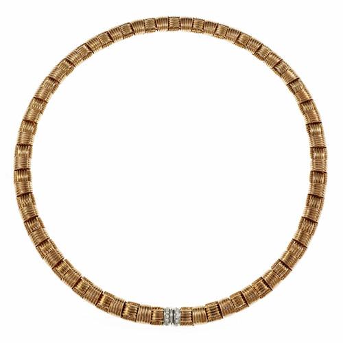 Roberto Coin Appassionata Necklace 18k Pink Gold Diamond