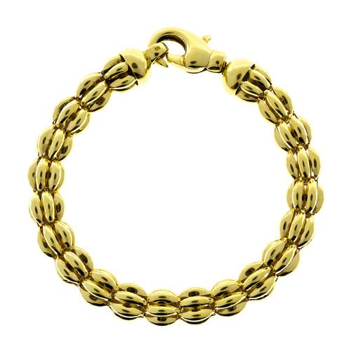 Kurt Gutmann Germany 3 Dimensional Fancy Link Bracelet in 14 Karat Gold