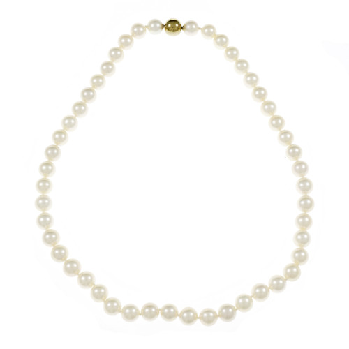 Estate High Grade Cultured Pearl Necklace 8mm to 8.5mm Japanese Akoya Pearls