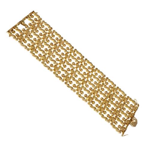 Vintage 1960 Wide Italian Bracelet