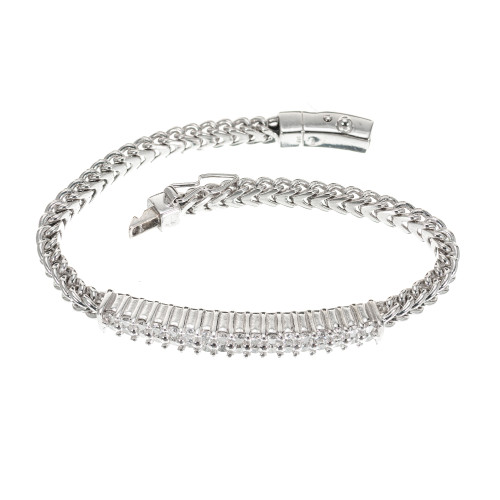1.75 Carat Diamond White Gold Bracelet