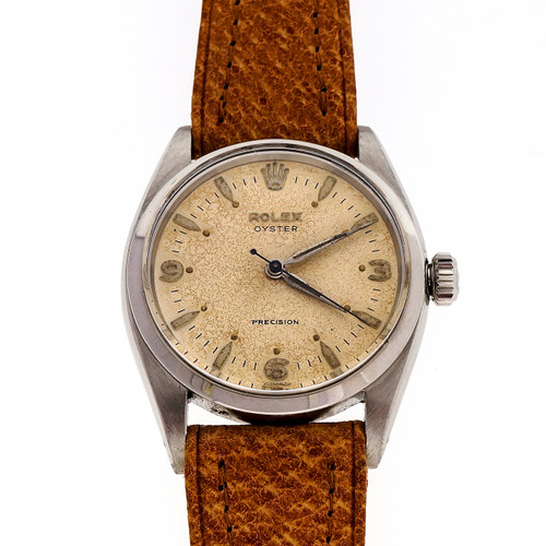 1957 Rolex 6422 Oyster Precision Steel 17 Jewel Watch