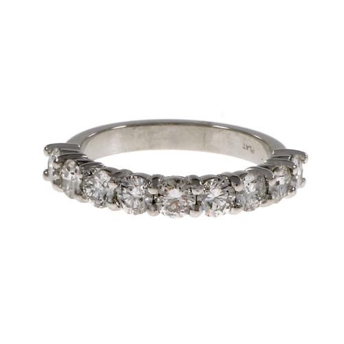 Peter Suchy Diamond Wedding Band Ring Platinum