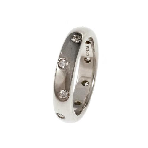 Tiffany Etoile Band Ring Platinum Diamond Size 6